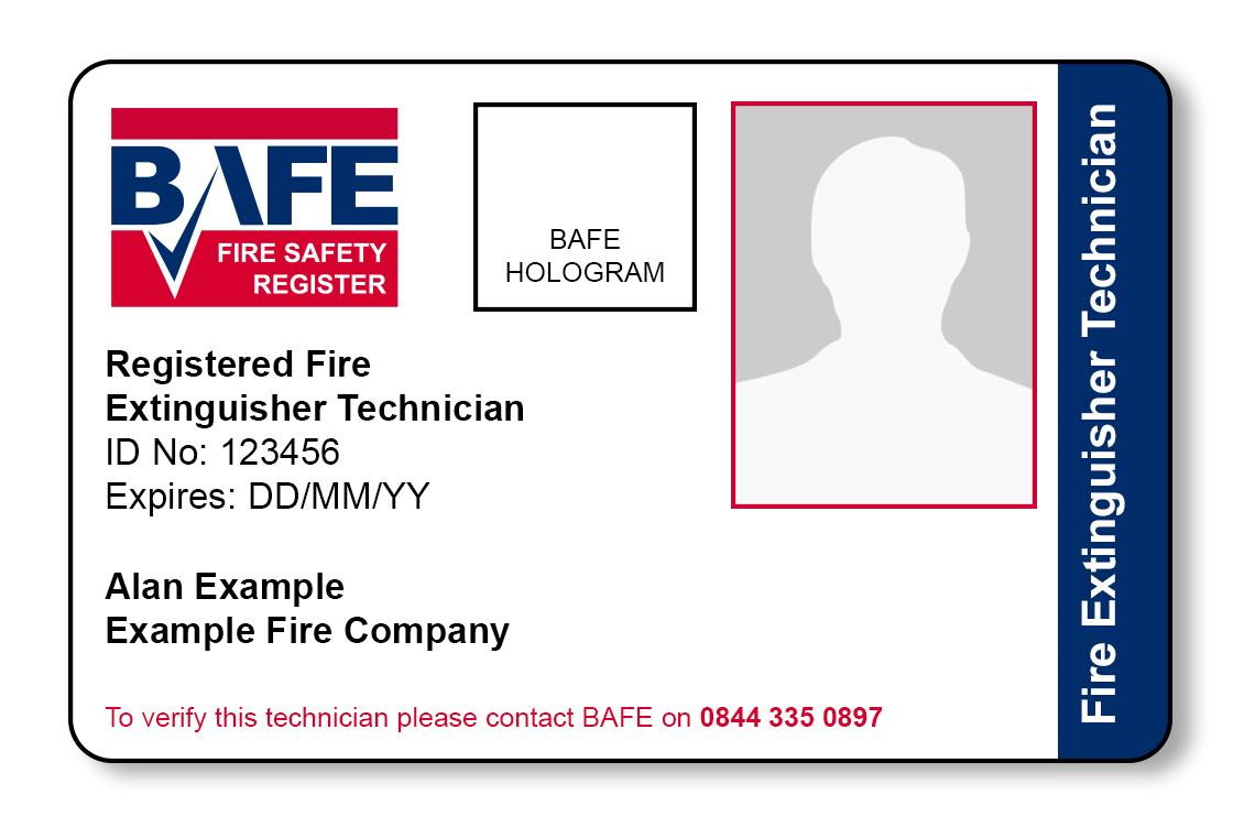 BAFE SP101 ID Card Example